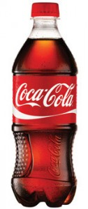 Bottle of Coca-Cola beverage